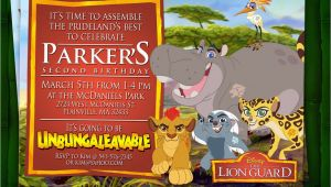 Lion Guard Birthday Party Invitations Lion Guard Birthday Invitation Digital File
