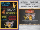 Lion Guard Birthday Party Invitations the Lion Guard Birthday Invitation Free Thank You Card the