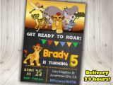 Lion Guard Birthday Party Invitations the Lion Guard Invitation Lion Guard by Decorationsleon