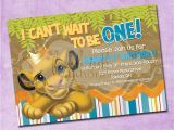 Lion King 1st Birthday Decorations Simba Lion King Birthday Invitation