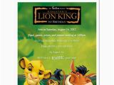 Lion King 1st Birthday Invitations 8 Lion King Personalized Birthday Party Invitations Ebay