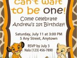 Lion King 1st Birthday Invitations Birthday Invitation Simba theme
