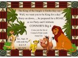 Lion King 1st Birthday Invitations Invite Lion King Jungle theme Pinterest