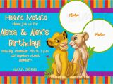 Lion King 1st Birthday Invitations Lion King Birthday Invitation by Lovelifeinvites On Etsy