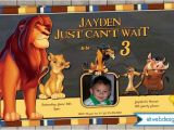 Lion King 1st Birthday Invitations Lion King Birthday Invitation Printable Digital File