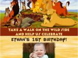 Lion King 1st Birthday Invitations Lion King Birthday Party Invitation Ideas Bagvania Free