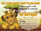 Lion King Birthday Invitation Template Free 10 X Children Kids Birthday Party Invitations the Lion
