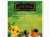 Lion King Birthday Invitation Template Free 8 Lion King Personalized Birthday Party Invitations Ebay