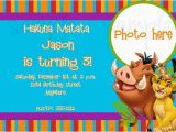 Lion King Birthday Invitation Template Free Lion King Birthday Party Invitation Ideas Bagvania Free