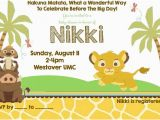 Lion King Birthday Party Invitations Lion King Birthday Party Invitation Ideas Bagvania Free