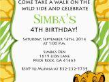 Lion King Birthday Party Invitations Print Your Own Lion King Birthday Invitation Simba by