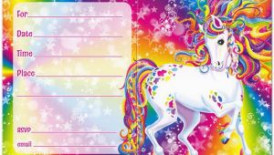 Lisa Frank Birthday Invitations Rainbow Majesty Invitations by Lisa Frank 90s Birthday
