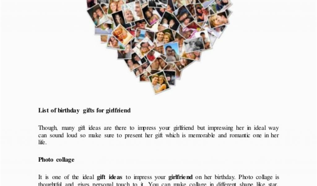 List Of Gifts For Girlfriend On Her Birthday Gift Ideas