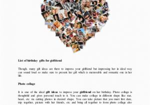 List Of Gifts For Girlfriend On Her Birthday Gift Ideas Cute