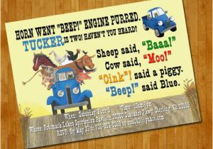 Little Blue Truck Birthday Invitations 301 Moved Permanently