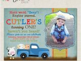 Little Blue Truck Birthday Invitations Items Similar to Little Blue Truck Custom Birthday Party