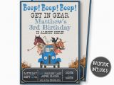 Little Blue Truck Birthday Invitations Little Blue Truck Birthday Invitation Little Blue Truck