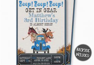 Little Blue Truck Birthday Invitations Little Blue Truck Birthday Invitation Little Blue Truck