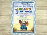Little Blue Truck Birthday Invitations Little Blue Truck Birthday Invitation