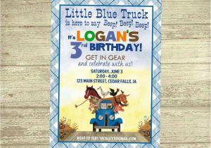 Little Blue Truck Birthday Invitations Little Blue Truck Birthday Invitation