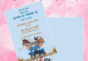 Little Blue Truck Birthday Invitations Little Blue Truck Birthday Invitations by Paperandteape On