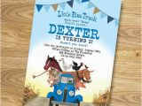 Little Blue Truck Birthday Invitations Little Blue Truck Birthday Party Invitation Digital File