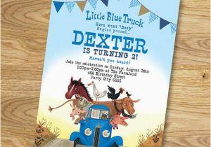 Little Blue Truck Birthday Invitations Little Blue Truck Birthday Party Invitation Digital File