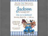 Little Blue Truck Birthday Invitations Little Blue Truck Birthday Party Invitationprintable