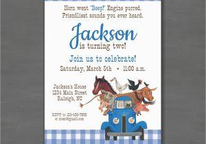 Little Blue Truck Birthday Invitations Little Blue Truck Birthday Party Invitationprintable