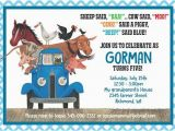 Little Blue Truck Birthday Invitations Little Blue Truck Custom Birthday Invitation