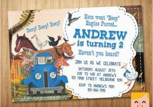 Little Blue Truck Birthday Invitations Little Blue Truck Invitation Little Blue Truck by