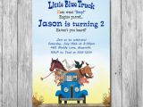 Little Blue Truck Birthday Invitations Little Blue Truck Invitation Option with Photo Little Blue