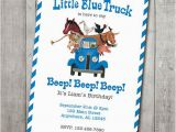 Little Blue Truck Birthday Invitations Little Blue Truck Invite Digital File