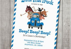 Little Blue Truck Birthday Invitations Little Blue Truck Invite Digital File