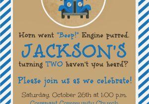 Little Blue Truck Birthday Invitations the Story Of Us Jackson 39 S Quot Little Blue Truck Quot 2nd