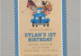 Little Blue Truck Birthday Invitations Unavailable Listing On Etsy