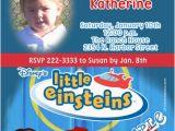 Little Einstein Birthday Invitations Little Einsteins Birthday Invitations
