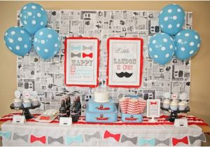 Little Man 1st Birthday Decorations Party Reveal First