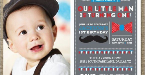 Little Man First Birthday Invitations Items Similar to Mustache Invitation Little Man Birthday