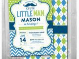 Little Man First Birthday Invitations Little Man Birthday Invitation Little Man Invitation