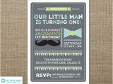 Little Man First Birthday Invitations Little Man Invitation Little Man Printable First