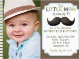 Little Man First Birthday Invitations Little Man Mustache Birthday Invitation Free Thank You