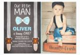 Little Man First Birthday Invitations Our Little Man Birthday Invitation Boy Bow Tie Zazzle Com