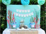 Little Mermaid Birthday Decoration Ideas Kara 39 S Party Ideas Ariel the Little Mermaid 5th Birthday