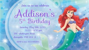 Little Mermaid Birthday Invitation Template 9 Best Images Of Free Mermaid Printable Invitation