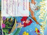 Little Mermaid Birthday Invitations Free Printables Ariel the Little Mermaid Free Printable Party Invitations