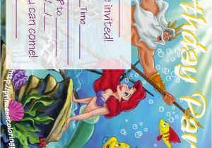 Little Mermaid Birthday Invitations Free Printables Ariel the Little Mermaid Free Printable Party Invitations