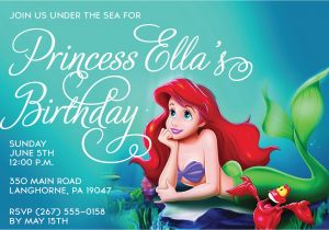Little Mermaid Birthday Invitations Free Printables Free Printable Birthday Invitations Ariel Mermaid