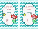 Little Mermaid Birthday Invitations Free Printables Little Mermaid Birthday Invitations Birthday Printable