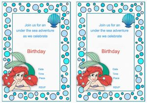 Little Mermaid Birthday Invitations Free Printables Little Mermaid Birthday Invitations Birthday Printable